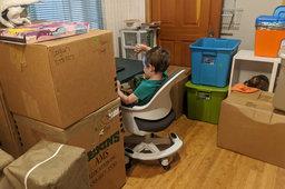 Julian on his kindergarten Zoom call