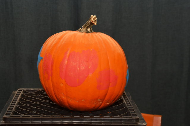 Julian's painted pumpkin