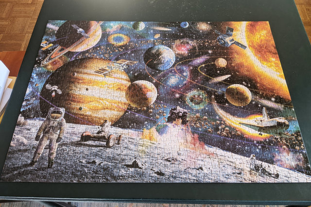 Completed space puzzle
