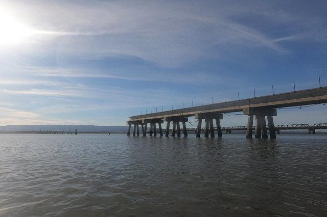 End of the Dumbarton Rail Bridge