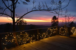 Sun setting over Monterey Bay