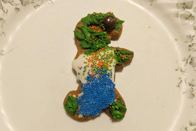 Calvin's gingerbread zombie