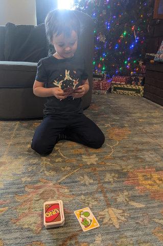 Julian plays Uno