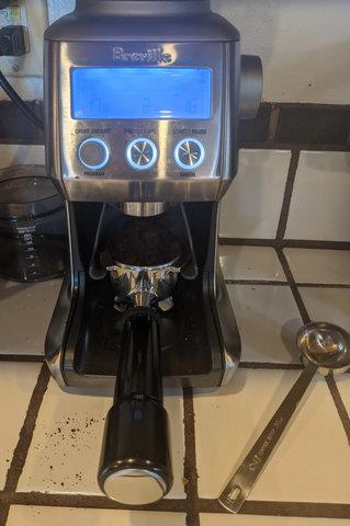 Grinding espresso