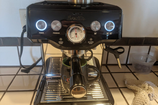 Making espresso with a Breville Infuser
