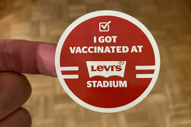 I got vaccinated at Levi's Stadium sticker