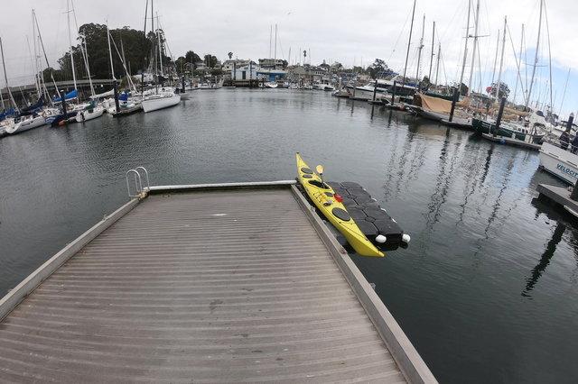 Kayak on the dock in Santa Cruz Small Craft Harbor
