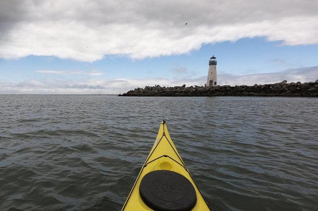 Kayaking out of Santa Cruz Small Craft Harbor