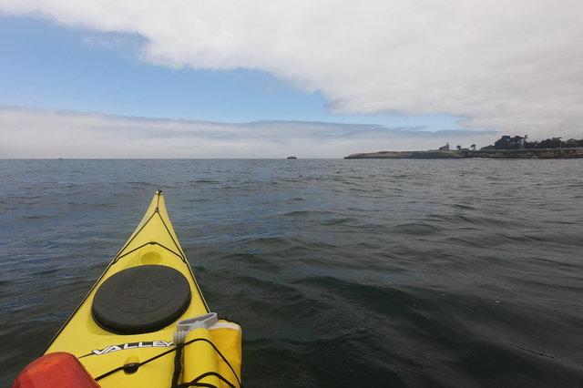 Kayaking towards Lighthouse Point