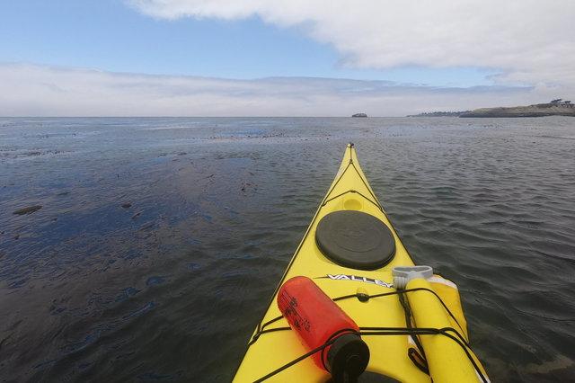 Kayaking towards Seal Rock