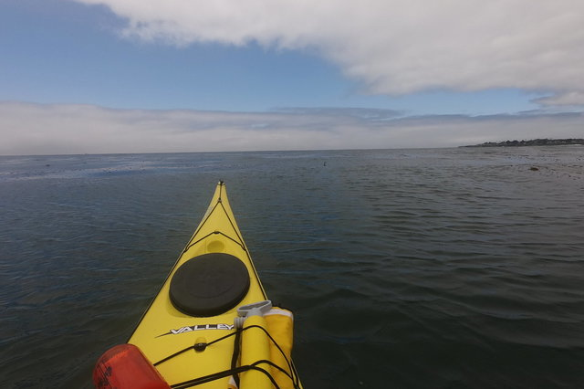 Kayaking towards the endless horizon
