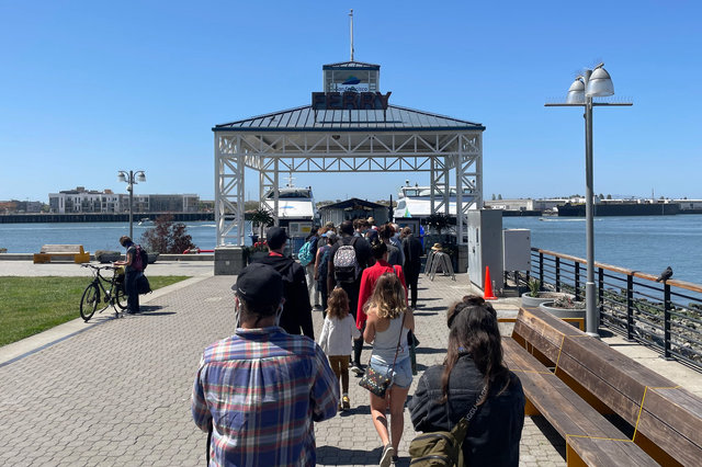 Boarding the SF Bay Ferry at Jack London Square