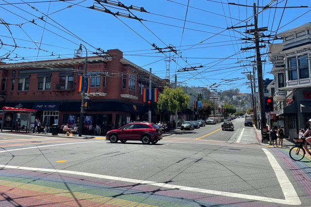 Rainbow crosswalk in the Castro