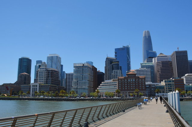 Salesforce Tower dominates SoMa skyline from Pier 14