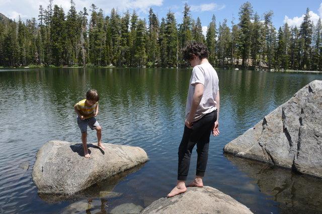 Julian and Calvin at Summit Lake