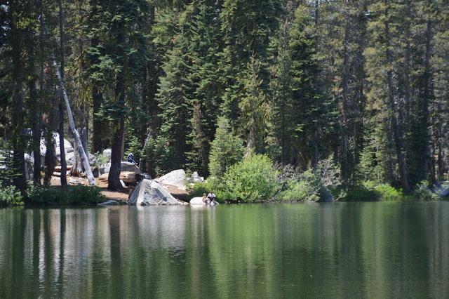 Kiesa, Julian, and Calvin at Summit Lake