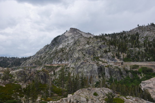 Rail line leading up to Donner Pass