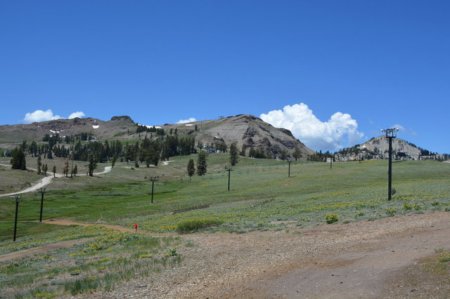 Top of Squaw Valley in the summer