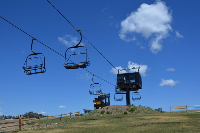 Chairlift at Squaw Valley in the summer