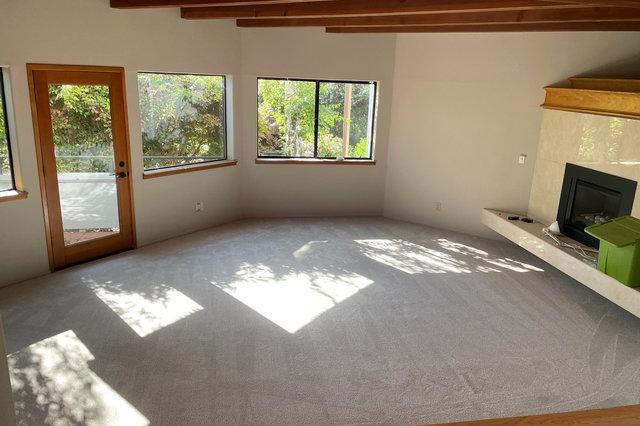 Carpet installed in living room
