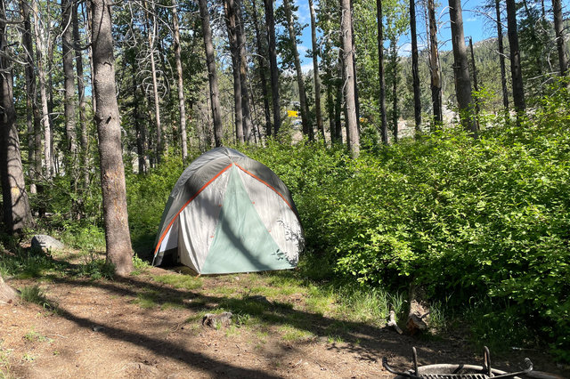 Tent at Hampshire Rocks campground