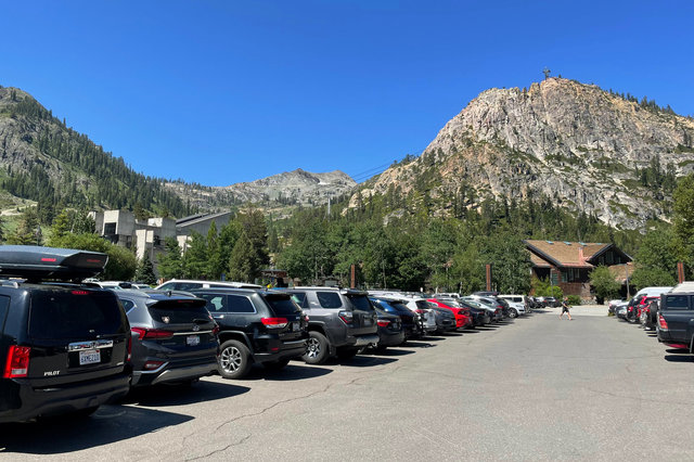 Summer parking lot at Squaw Valley