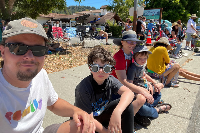 Jaeger, Calvin, Kiesa, and Julian wait for the Scotts Valley Fourth of July parade