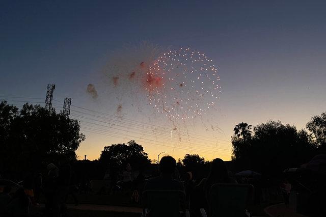 Fireworks in Santa Clara