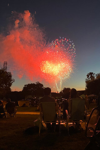 Fourth of July fireworks finale
