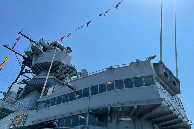 USS Iowa main tower