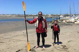 Jaeger and Calvin after kayaking in Elkhorn Slough