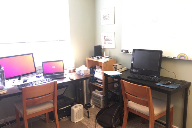 Office set up for Kiesa and Calvin