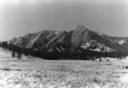 flatirons in the snow