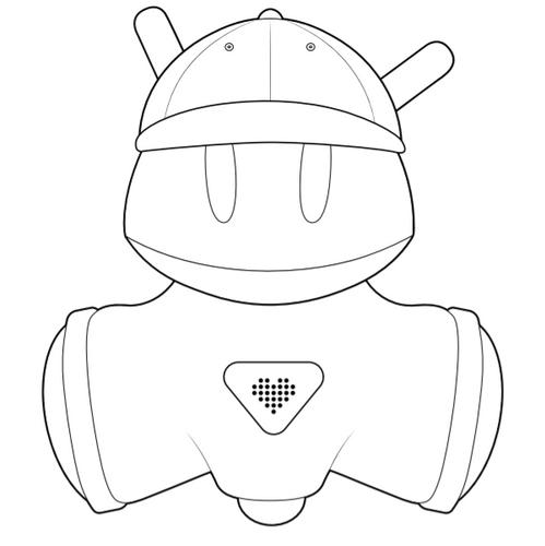 Kolorowanki  z robotem - zestaw #2