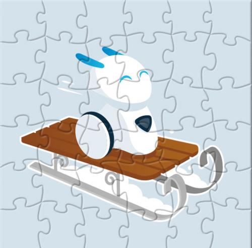 Zimowo-świąteczne interaktywne puzzle