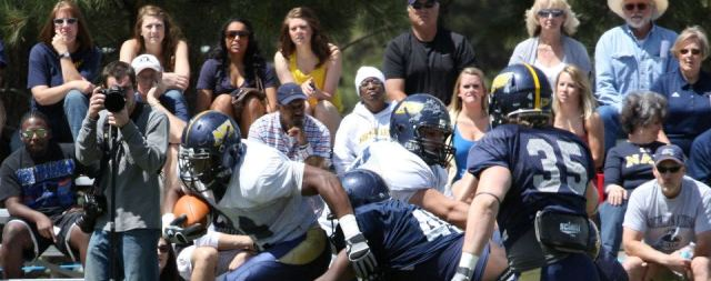 Hamilton's Bauman stars in NAU football Blue-White game