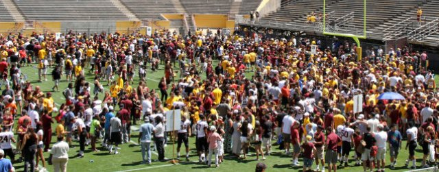 A good sign: fans flock to ASU, UA spring football games