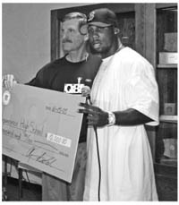 BOLDIN DONATES $10,000 TO INDEPENDENCE HIGH SCHOOL