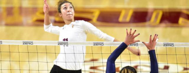Party's over!  Wheels fall off unbeaten ASU volleyball