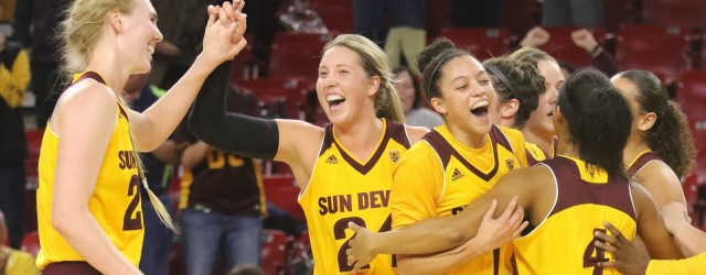 ASU women upset ranked teams to move back into Top 25