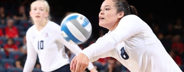 Serving, receiving carry UA volleyball to sweep of ASU