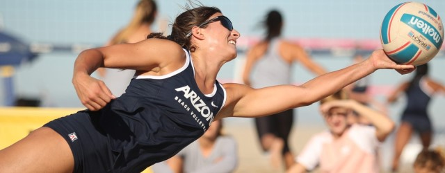 UA beach volleyball sets record for wins, notches No. 100