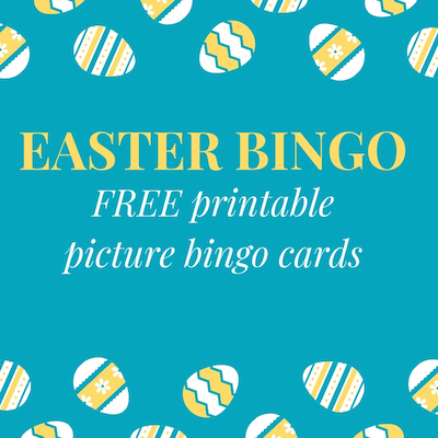 Easter Bingo Free printable picture bingo cards