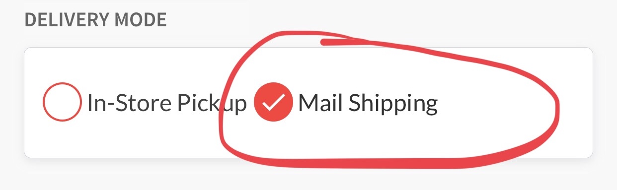 select mail shipping image