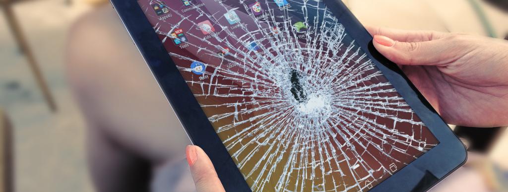 Разбился экран, дисплей, сенсор в планшете