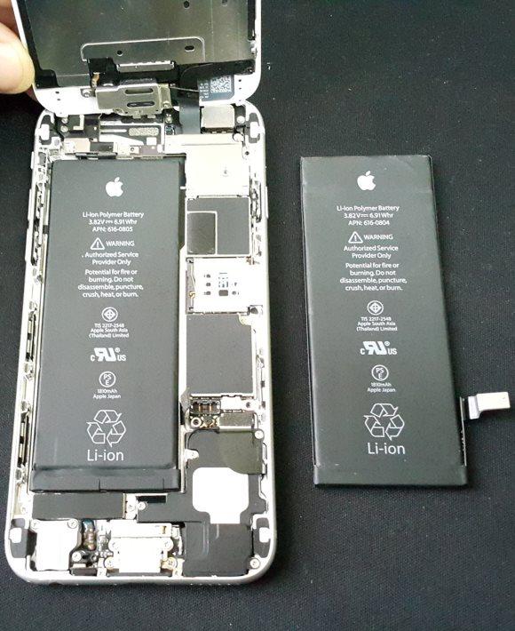 Замена батареи телефона