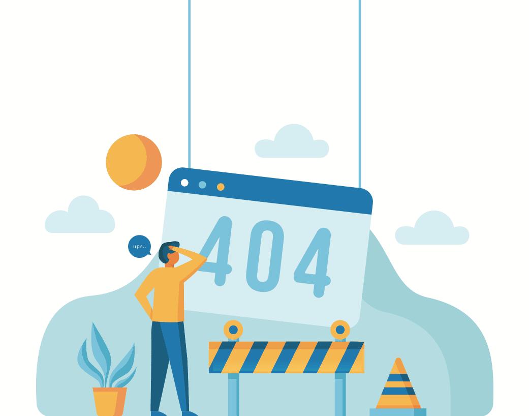An image describing a 404 not found error