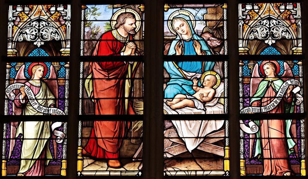 Lasimaalaus Jeesuksen syntymästä