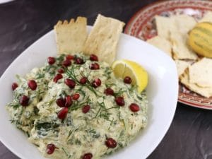 spinach dip with walnuts (borani esfenaj) Persian theme Piquant Post
