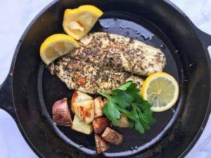 skillet herbed fish